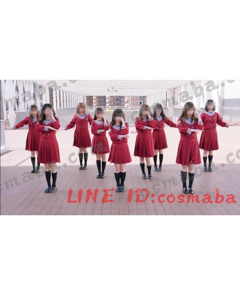 乃木坂46「Drop's Revolution」ション制服人形 コスプレ 赤い制服 双ボタン すごくかわいい 学校風