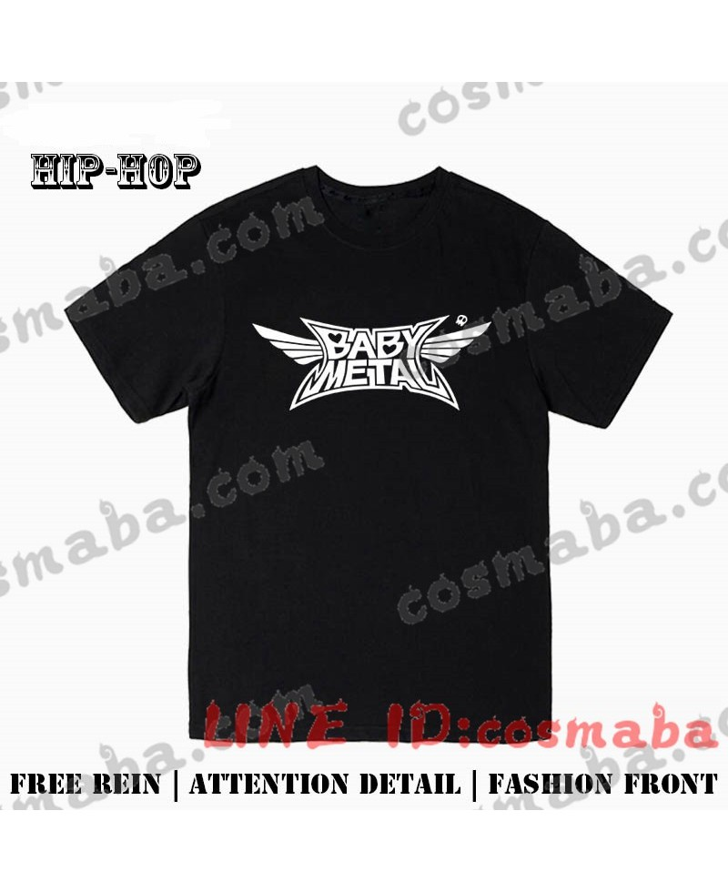 ロリヘビーメタル babymetal グッズ Tシャツ 応援団服 黒い 白い シンプル チョウクール