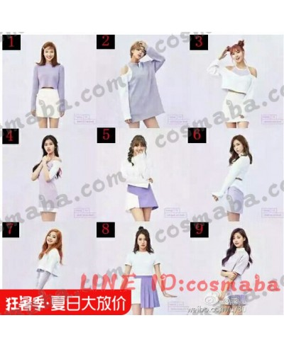TWICE idol room TT ステージ制服 おしゃれ 紫白いスタイル コスプレ衣装 いろんなスタイル