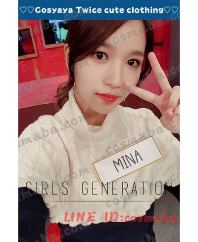 Twice Mina 私服 ライブステージ演出服 コスプレ衣装 通販 タートルネックのセーター