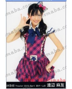 AKB48 初日 打歌服 佐藤 亜美菜 渡辺 麻友 縞のワンピース ビッグネクタイ かわいい 青春