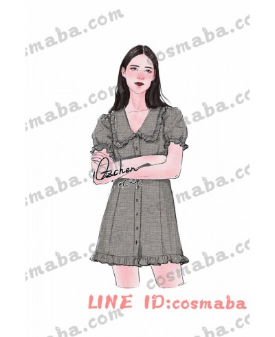 blackpink Jennie ジェニー チェック柄のドレスハイウエストスカート