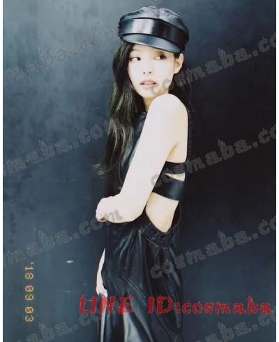 blackpink Jennie私服 レザードレス バックレス すごくセクシー お洒落 バラックピンク ジェニー