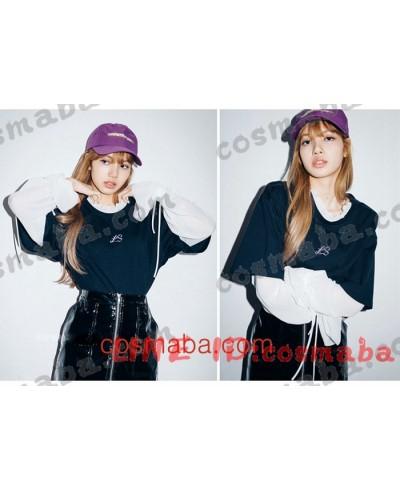 blackpink リサ KILL THIS LOVE 私服 コスプレ衣装 通販 黒い長袖シャツ ブランド 即納