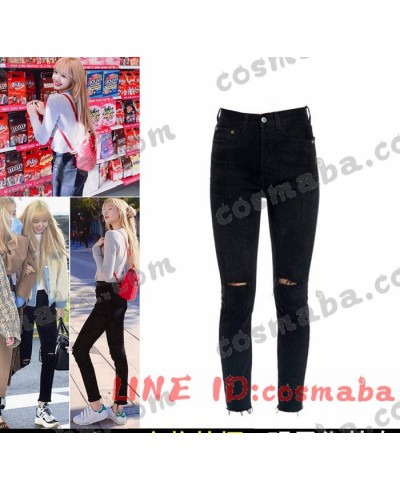 blackpink リサ KILL THIS LOVE 私服 コスプレ衣装 通販 黒いジーンズ ブランド 即納