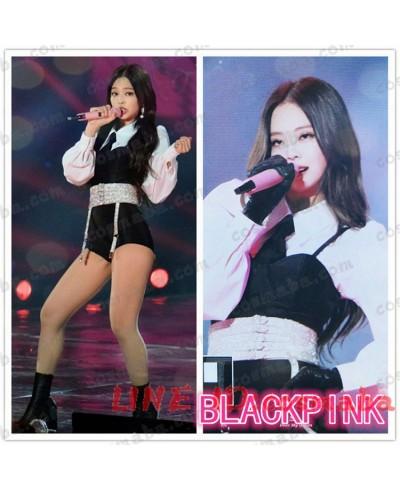 blackpink jennie ジェニー KILLTHISLOVE 打歌服 演出服 黒白 シャツ パンツ コスプレ衣装 ブラックピンク 服 通販 安い 韓国服 K-POP