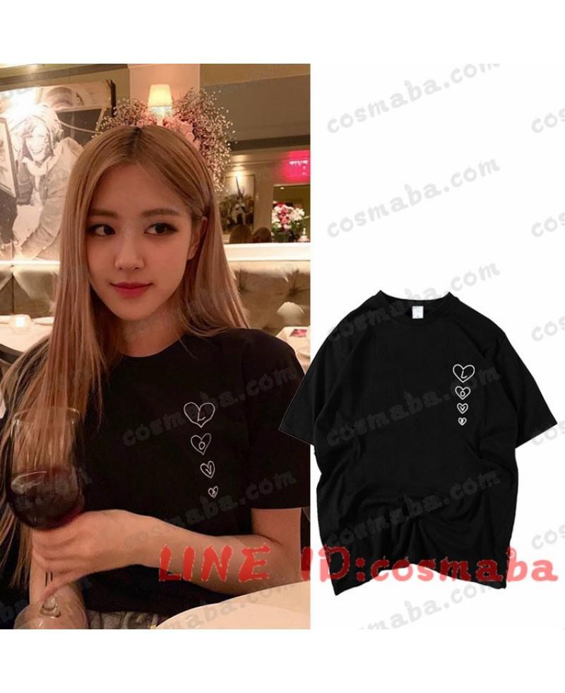 blackpink rose ブラックピンク ロゼ KILLTHISLOVE 黒いシャツ かわいい コスプレ衣装 私服 通販 安い コピー