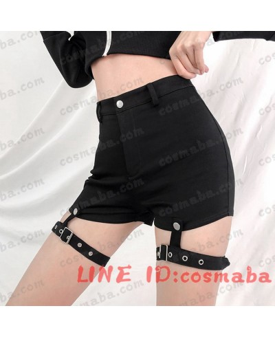 韓国服  服 通販 シンプル かっこういい ブラックパンツ ストラップ 布製  INS  人気  潮流  安い  韓国ファッション  通販 k-pop