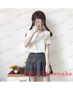 韓国ファッション  ハニー  スウィット  かわいすぎる コスプレ衣装 服  シャツワンピース  白い 在庫 即納