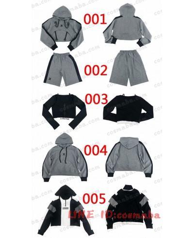 韓国服 親友セット パーカー 禁欲係 ボイフレンド風 オーバーサイズ  サスペンダー 黒い すごくクール 黒白 シャツ 高品質 安い