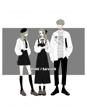 韓国服 シャツスカート サスペンダー  日常  黒い すごくクール 黒白 シャツ 高品質 激安い 韓国風 学院風 オーバーサイズ