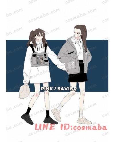 韓国服 ボディバッグ ロゴ入り ブラック ホワイト 黒いカバン ちょうクール 機能パッケージ ファッション 安い