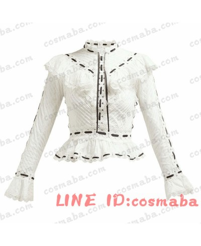Blackpink Jennie ジェニー 私服 白いレース长袖  ブラックピンク 服 通販 安い 韓国服