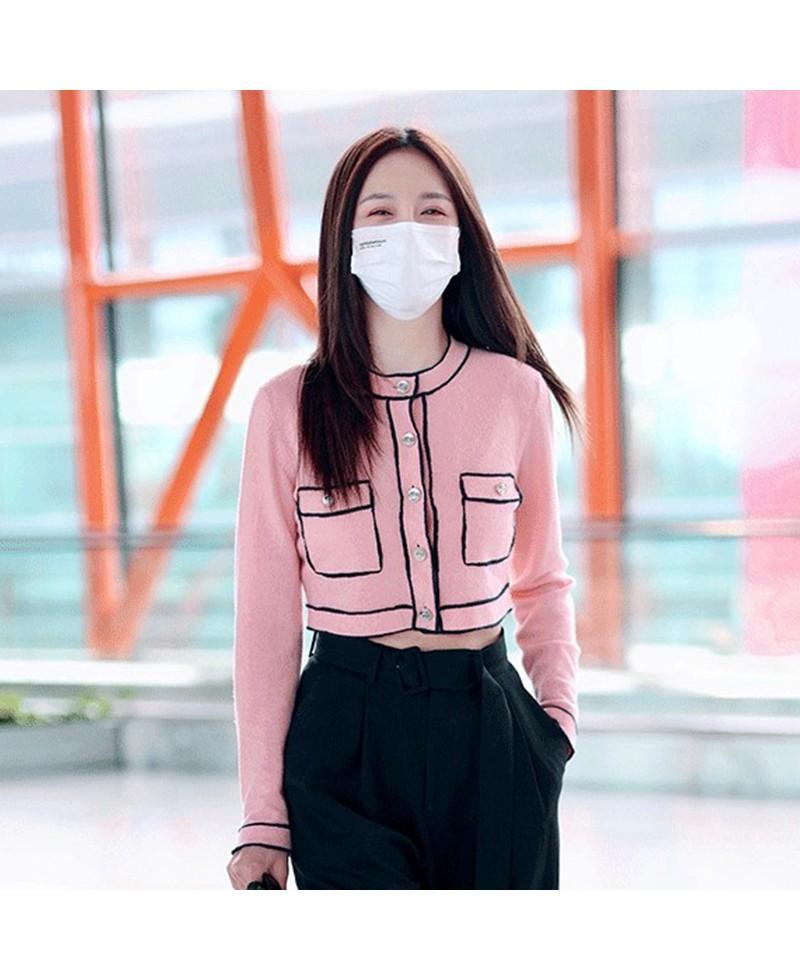 blackpinkジェニーjennieかわいいピンクジャケットアイドル上着スウェットニット韓流ファッションオシャレレディース長袖私服コスプレコスチューム