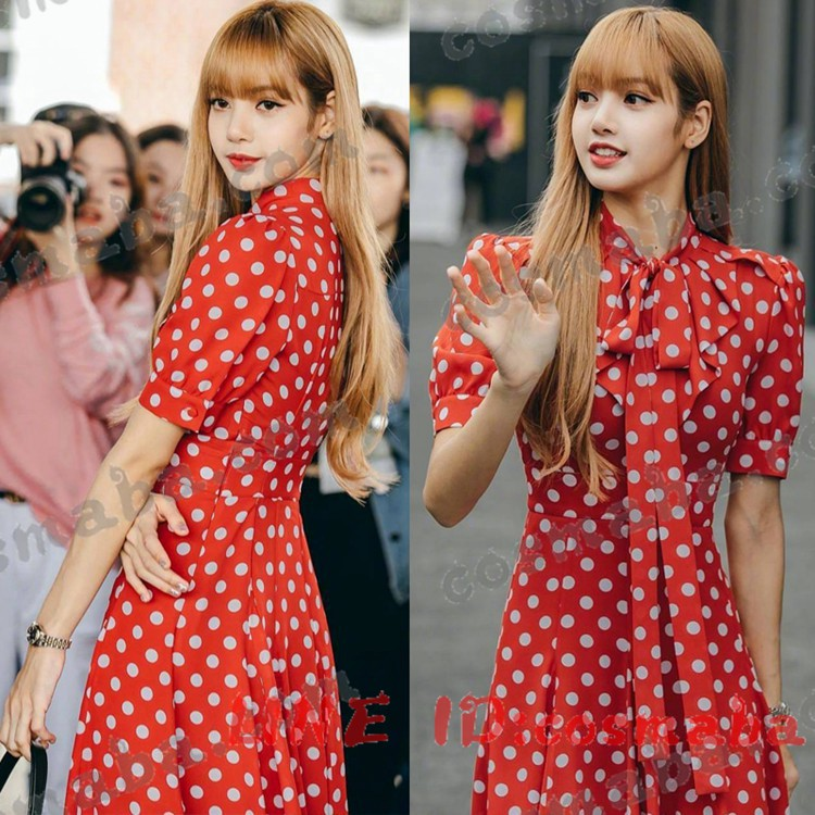 blackpink KILLTHISLOVE リサ lisa 赤いドレス演出服