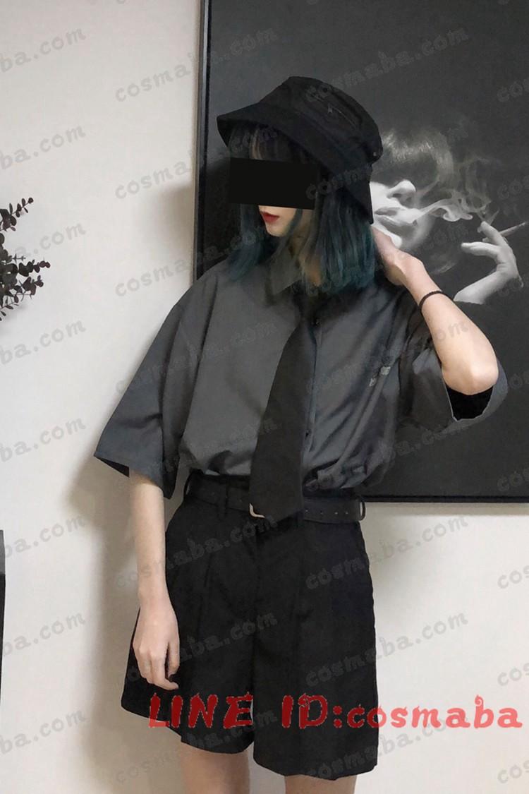 韓国服 黒白 シャツ パンツ シンプル コスプレ衣装ネクタイ贈り