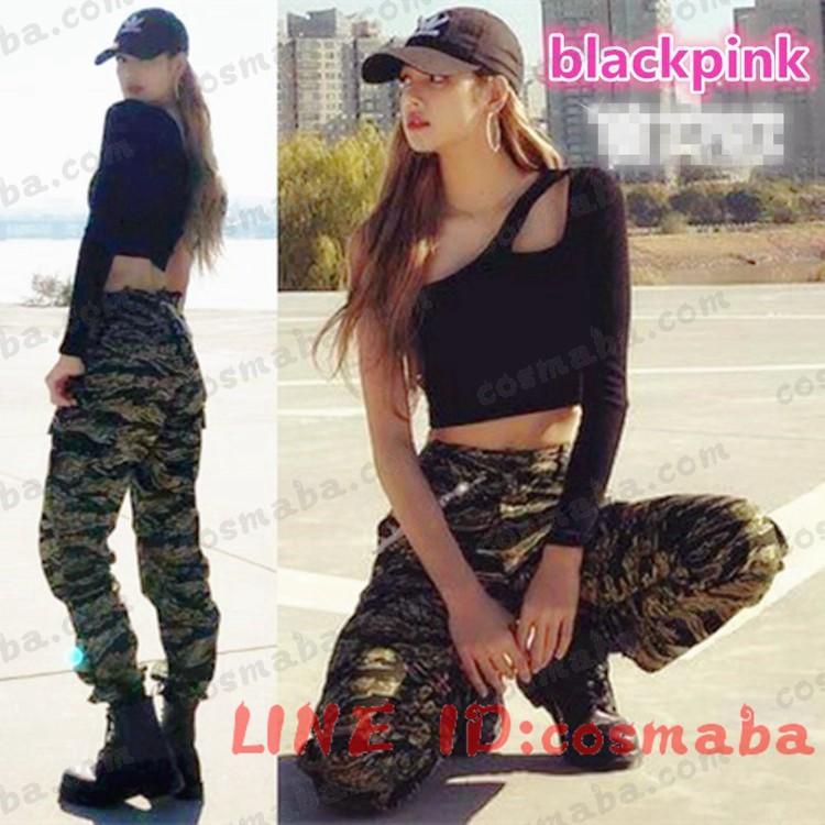 blackpink lisa ブラックピンク 長袖tシャツ